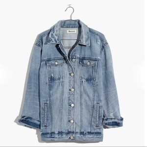 NWT Madewell Oversized Distressed Jean Jacket